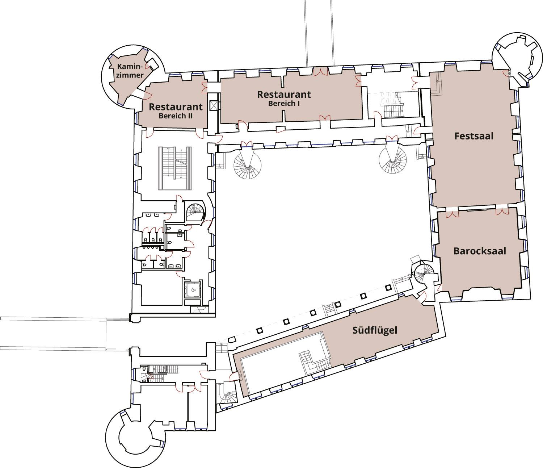 Schloss Herten Grundriss